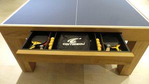 table de ping pong design Pearl avec tiroir